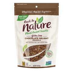 BACK TO NATURE CHOCOLATE DELIGHT GRANOLA 11 OZ POUCH