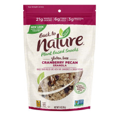 BACK TO NATURE CRANBERRY PECAN GRANOLA 11 OZ POUCH