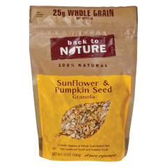 BACK TO NATURE SUNFLOWER AND PUMPKIN SEED GRANOLA 11 OZ POUCH