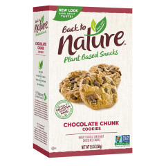 BACK TO NATURE CHOCOLATE CHUNK COOKIES 9.5 OZ BOX