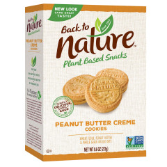 BACK TO NATURE PEANUT BUTTER CREME COOKIES 9.6 OZ BOX