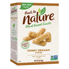 BACK TO NATURE HONEY GRAHAM STICKS 8 OZ BOX