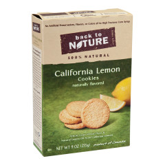 BACK TO NATURE CALIFORNIA LEMON COOKIES 9 OZ BOX