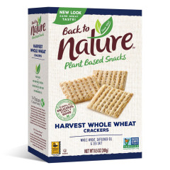 BACK TO NATURE MULTIGRAIN FLAX SEED CRACKERS 5.5 OZ BOX