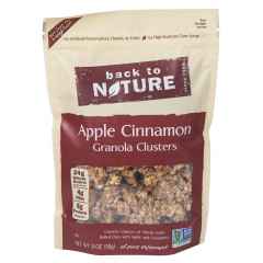 BACK TO NATURE APPLE CINNAMON GRANOLA CLUSTERS 11 OZ POUCH
