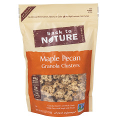 BACK TO NATURE MAPLE PECAN GRANOLA CLUSTERS 11 OZ POUCH