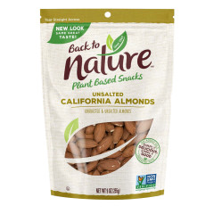 BACK TO NATURE CALIFORNIA ALMONDS 9 OZ POUCH
