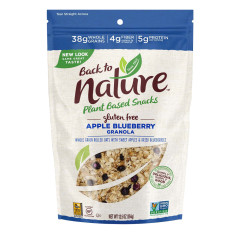 BACK TO NATURE GLUTEN FREE APPLE BLUEBERRY GRANOLA 12.5 OZ POUCH