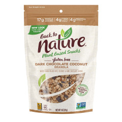 BACK TO NATURE GLUTEN FREE DARK CHOCOLATE COCONUT GRANOLA 11 OZ POUCH