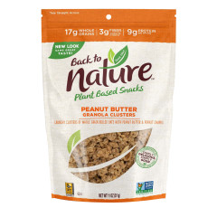 BACK TO NATURE PEANUT BUTTER GRANOLA CLUSTERS 11 OZ POUCH