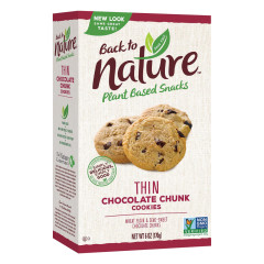 BACK TO NATURE CHOCOLATE CHUNK THIN COOKIES 6 OZ BOX