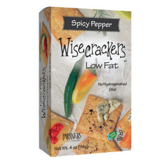 PARTNER'S WISECRACKER'S LOW FAT SPICY PEPPER CRACKERS 4 OZ BOX