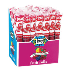JORAY STRAWBERRY FRUIT ROLLS 0.75 OZ