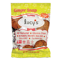 LUCY'S GLUTEN FREE GINGER SNAP COOKIES 1.25 OZ BAG