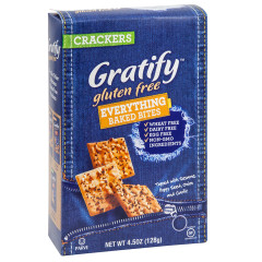 GRATIFY GLUTEN FREE EVERYTHING BAKED BITES 4.5 OZ BOX