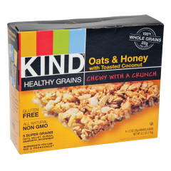 KIND GRANOLA BAR OATS AND HONEY WITH COCONUT 5PC 6.2OZ