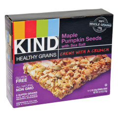 KIND GRANOLA BAR MAPLE PUMPKIN SEEDS WITH SEA SALT 5PC 6.2OZ