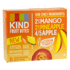 KIND MANGO PINEAPPLE FRUIT BITES 5 PC 3 OZ BOX