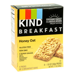 KIND HONEY OAT BREAKFAST BAR 4 PC 7.1 OZ BOX