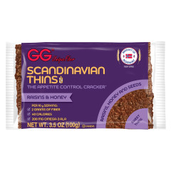 GG SCANDINAVIAN RAISINS AND HONEY THINS 3.5 OZ