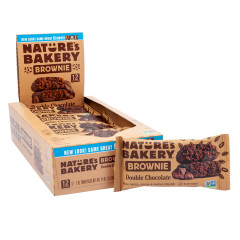 NATURE'S BAKERY BROWNIE DOUBLE CHOCOLATE 2 OZ BAR