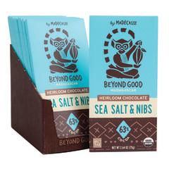 MADECASSE DARK CHOCOLATE SEA SALT AND NIBS 2.64 OZ BAR