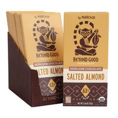 MADECASSE DARK CHOCOLATE SALTED ALMOND 2.65 OZ BAR