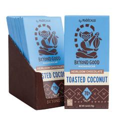 MADECASSE DARK CHOCOLATE TOASTED COCONUT 2.64 OZ BAR
