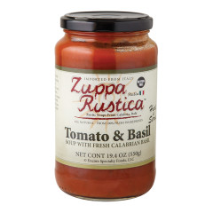 ZUPPA RUSTICA TOMATO AND BASIL SOUP 19.4 OZ JAR