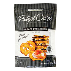 PRETZEL CRISPS SEA SALT AND CRACKED PEPPER 7.2 OZ BAG