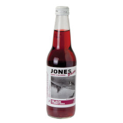 JONES ZERO CALORIE BLACK CHERRY SODA 12 OZ BOTTLE 4 PACK