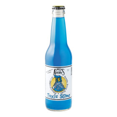 AVERY'S TOXIC SLIME BLUE RASPBERRY ORANGE SODA 12 OZ BOTTLE