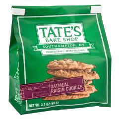 TATE'S OATMEAL RAISIN COOKIES 3.5 OZ BAG