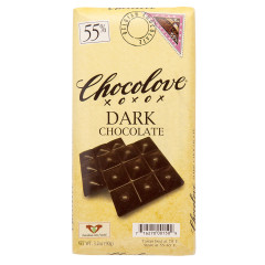 CHOCOLOVE 55% DARK CHOCOLATE 3.2 OZ BAR