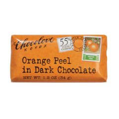 CHOCOLOVE ORANGE PEEL IN DARK CHOCOLATE MINI 1.2 OZ BAR