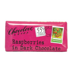 CHOCOLOVE RASPBERRIES IN DARK CHOCOLATE MINI 1.2 OZ BAR