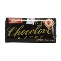 CHOCOLOVE STRONG DARK CHOCOLATE MINI 1.3 OZ BAR