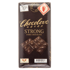 CHOCOLOVE STRONG DARK CHOCOLATE 3.2 OZ BAR