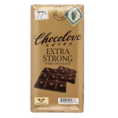 CHOCOLOVE EXTRA STRONG DARK CHOCOLATE 3.2 OZ BAR