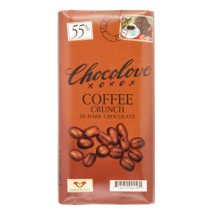 CHOCOLOVE COFFEE CRUNCH DARK CHOCOLATE 3.2 OZ BAR