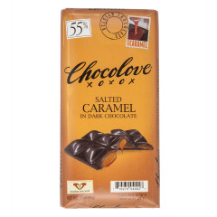 CHOCOLOVE SALTED CARAMEL IN DARK CHOCOLATE 3.2 OZ BAR