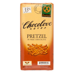 CHOCOLOVE PRETZEL IN MILK CHOCOLATE 3.2 OZ BAR