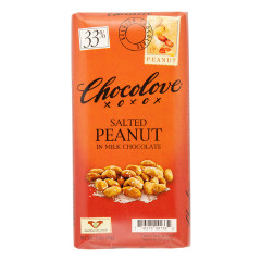 CHOCOLOVE SALTED PEANUT IN MILK CHOCOLATE 3.2 OZ BAR