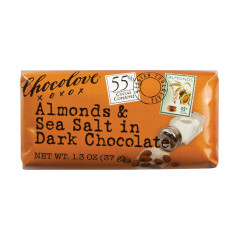 CHOCOLOVE ALMONDS & SEA SALT IN DARK CHOCOLATE MINI 1.3 OZ BAR