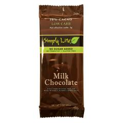 SIMPLY LITE NO SUGAR ADDED MILK CHOCOLATE 3 OZ BAR