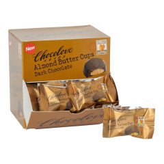 CHOCOLOVE DARK CHOCOLATE ALMOND BUTTER CUPS 0.6 OZ