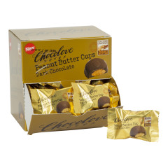 CHOCOLOVE DARK CHOCOLATE PEANUT BUTTER CUPS 0.6 OZ