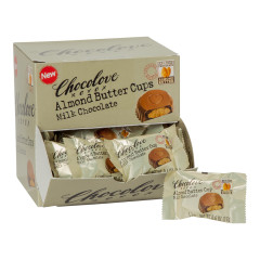 CHOCOLOVE MILK CHOCOLATE ALMOND BUTTER CUPS 0.6 OZ