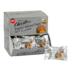 CHOCOLOVE MILK CHOCOLATE PEANUT BUTTER CUPS 0.6 OZ