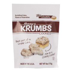 CLEVER COOKIE KENNY'S KRUMBS COOKIES 6 OZ POUCH